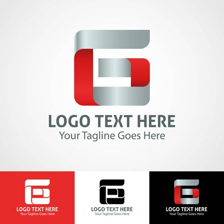 Modern elegant professional hi-tech trendy initial icon logo based on letter G.