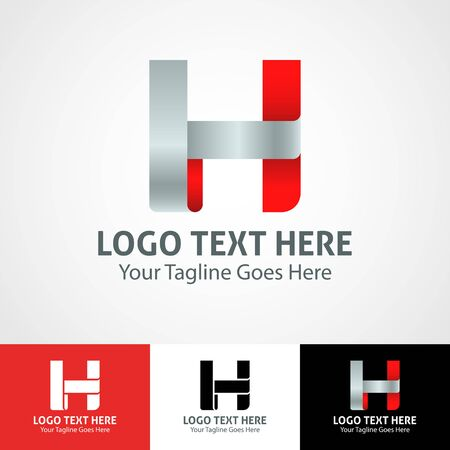 Modern elegant professional hi-tech trendy initial icon logo based on letter H. Illusztráció