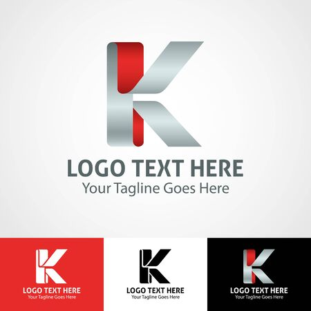 Modern elegant professional hi-tech trendy initial icon logo based on letter K.