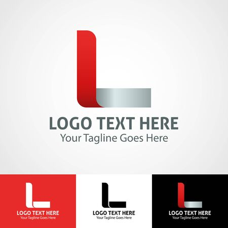 Modern elegant professional hi-tech trendy initial icon logo based on letter L.