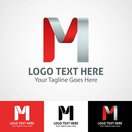 Modern elegant professional hi-tech trendy initial icon logo based on letter M.