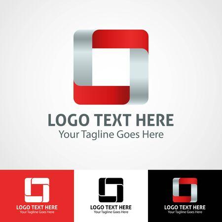 Modern elegant professional hi-tech trendy initial icon logo based on letter O. Çizim