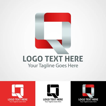 Modern elegant professional hi-tech trendy initial icon logo based on letter Q. Illusztráció