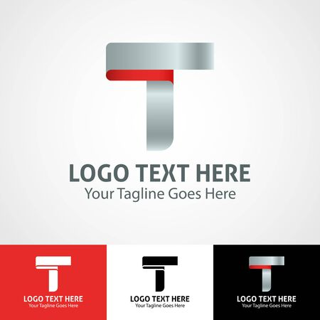 Modern elegant professional hi-tech trendy initial icon logo based on letter T.