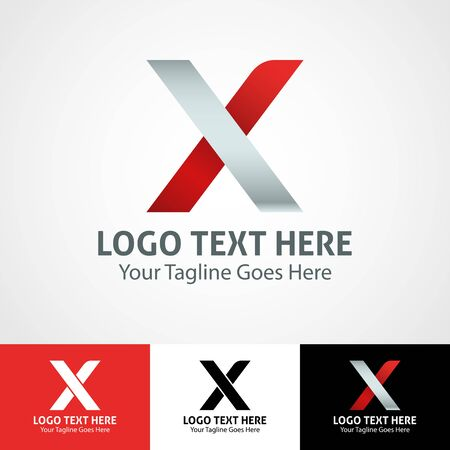 Modern elegant professional hi-tech trendy initial icon logo based on letter X. Illusztráció