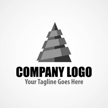 Modern logo template for drilling company. Geological icon. EPS vector format. Simple minimalist logo Illusztráció