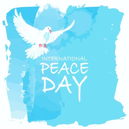 Vector illustration of watercolor effect design for International Peace Day or World Peace Day.