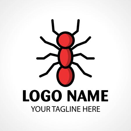 Simple icon of an ant . Ant logo design template