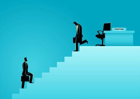 Business concept vector illustration of employee replacement. Business people Ilustração