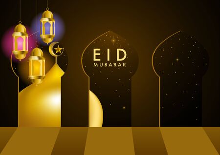 Beautiful vector illsutration of Ramadan Kareem greeting card design