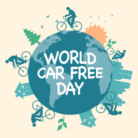 Vector illustration for World Car Free Day icon Illustration