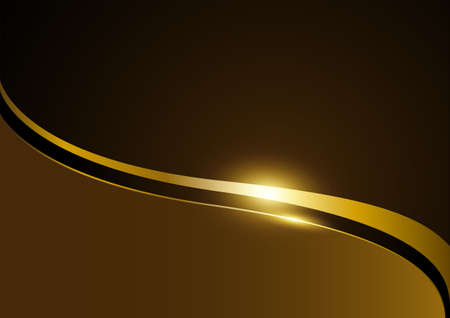 Empty abstract background for copy space, gold luxurious design template, vector illustration Illustration
