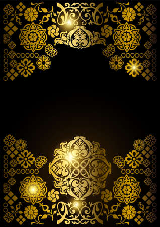 Luxury gold ornamental design background. Vector illustration 矢量图像