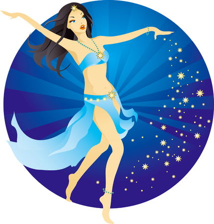 vector illustration of beautiful belly dancer Stock Vector - 2945651
