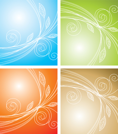 curled  background Vector