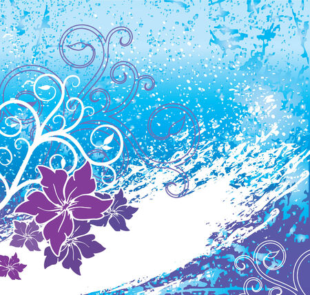 vector blue grunge background Stock Vector - 3131487
