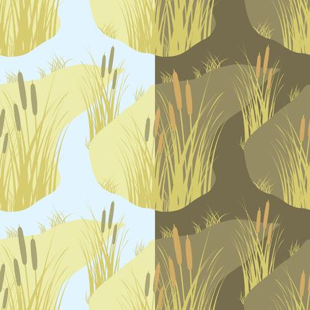 cane creek: vector seamless Illustration