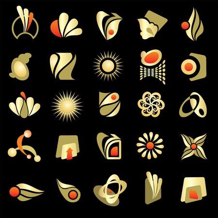design logo elements Illustration