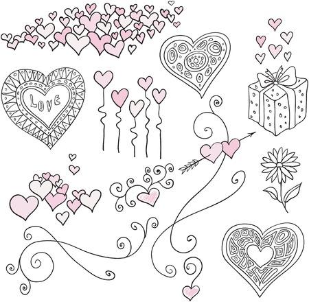 handwriting: design elements Illustration