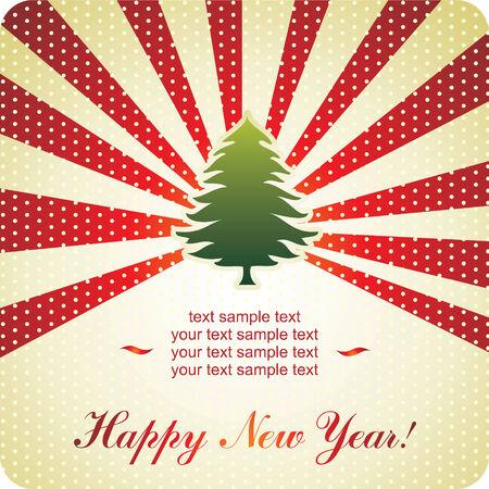 New Year background Vektorové ilustrace