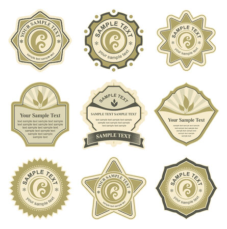 ribbon vector set: set of design elements