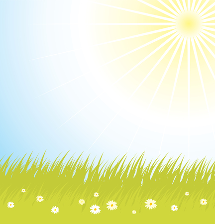 background with grass and Stock Vector - 4905318