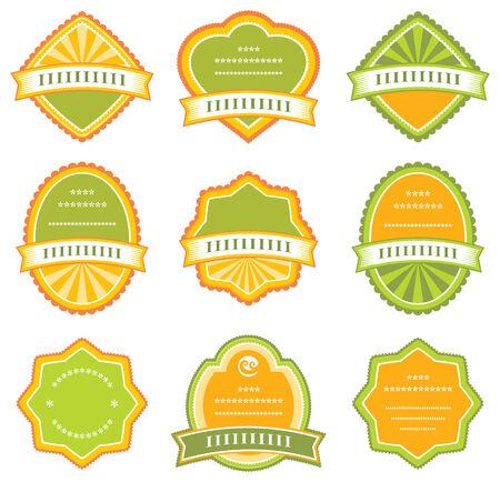 congratulations text: Set of design elements