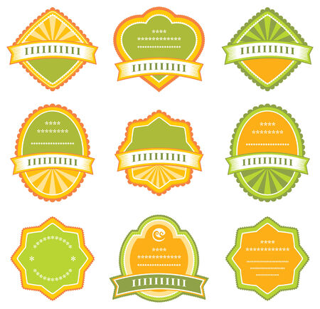 sticker vector: Set of design elements