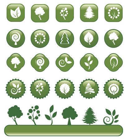 set of green design elements Stock Vector - 5254046
