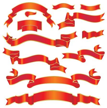 set of ribbons Stock Vector - 5265096