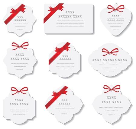 ribbon vector set: set of design elements
