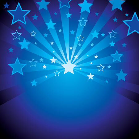 stars vector: blue background with stars