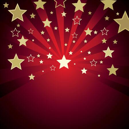 fond rouge avec des étoiles