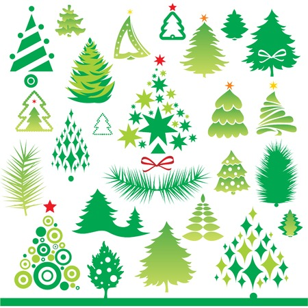 green New Year collection  Vector