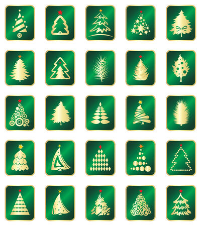 set of firs Stock Vector - 5634814