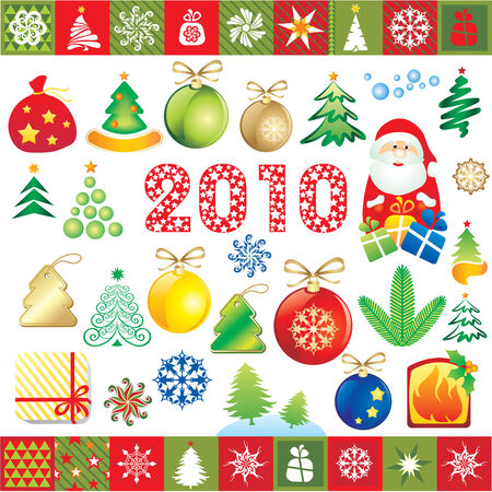 set of new year design elements  Vector