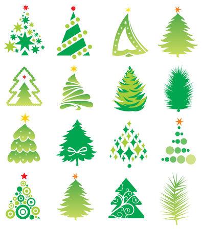 set of firs Vektorové ilustrace