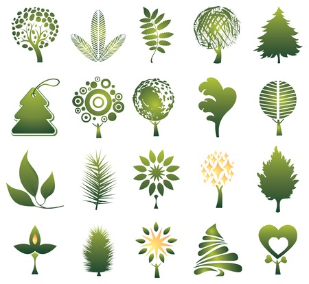 tree logo: set of trees Illustration