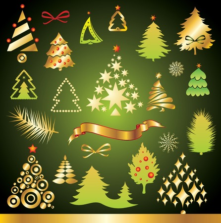 New Year set of design elements  Vector