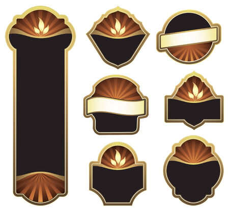 badge logo: set of design elements