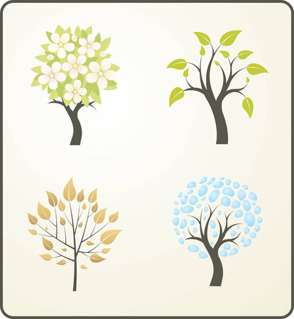 Four seasons of a tree Illustration