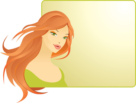 hairdress: beautiful red-haired girl