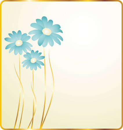 background with blue flowers  Vector