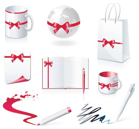 paperbag: set of design elements