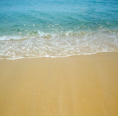 water wave and sand background Stock Photo - 6902055