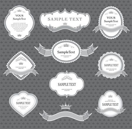 ensemble d'éléments de conception d'étiquettes