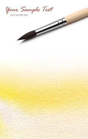 ink in water: paper watercolor painted background