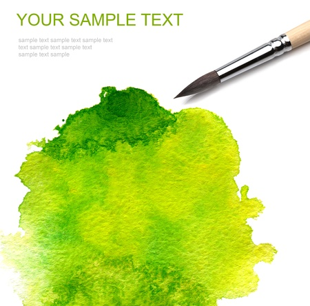 brash and abstract watercolor paint Stock Photo - 8349372