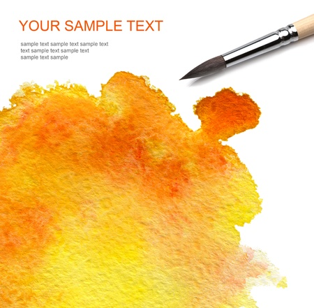 paintbrushes: brash and abstract watercolor paint