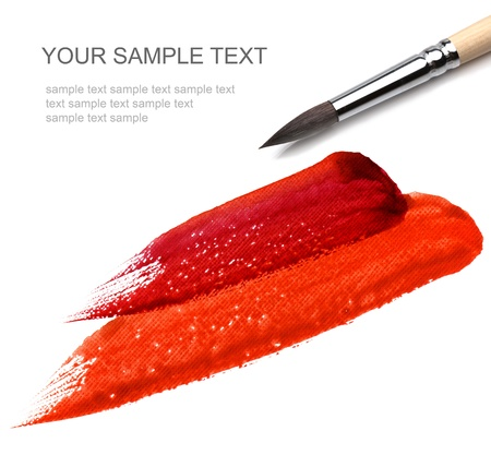 brash and red paint sketch Stock Photo - 8339652
